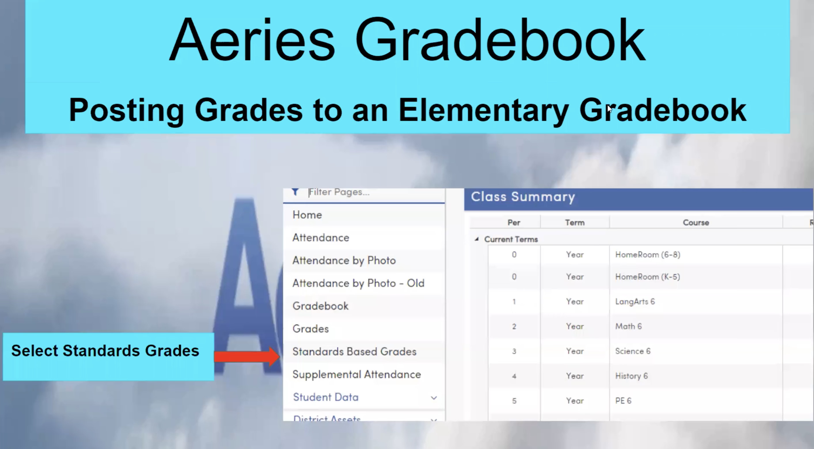Aeries Gradebook Training Video
